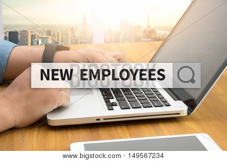 NEW EMPLOYEES SEARCH WEBSITE INTERNET SEARCHING  business man hard work