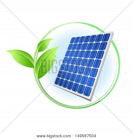 Abstract sign solar panel illustration, isolated on white