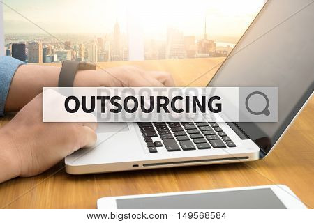 OUTSOURCING SEARCH WEBSITE INTERNET SEARCHING  business man hard work