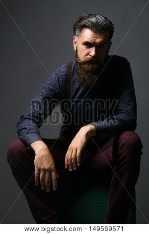 Handsome Bearded Fashionable Man