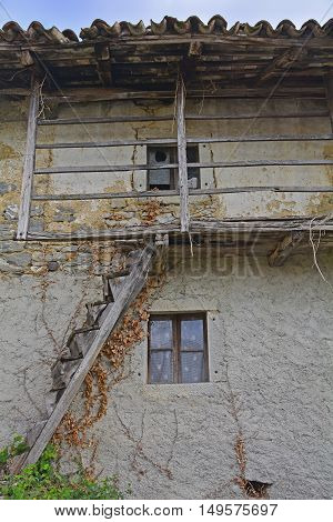 An old derelict building in the small Italian village of Oblizza Friuli Venezia Giulia.