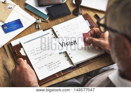 Vision Mission Work Business Concept