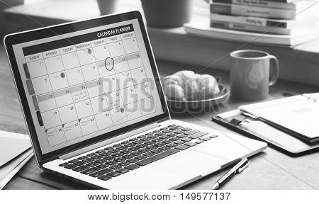Calendar Note Schedule Memo Manage Event Concept