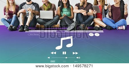Music Sound Multimedia Player Concept