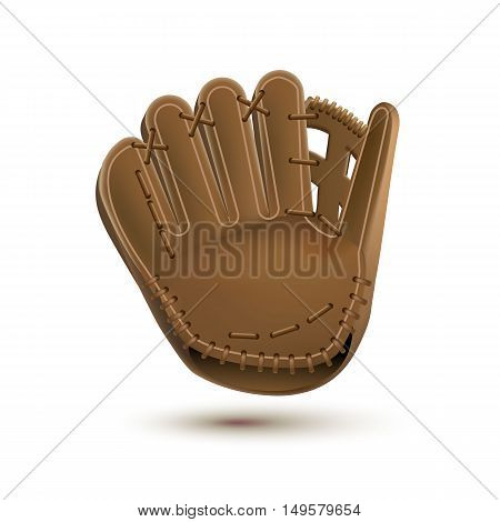 baseball glove isolated on white realistic objects eps 10