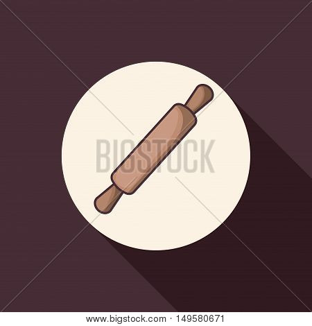 Rolling pin icon. Bakery food daily and fresh theme. Purple background. Vector illustration
