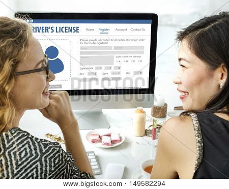 International Driver's License Card Identification Data Information Concept