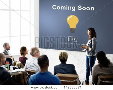 Coming Soon Opening Promotion Announcement Concept