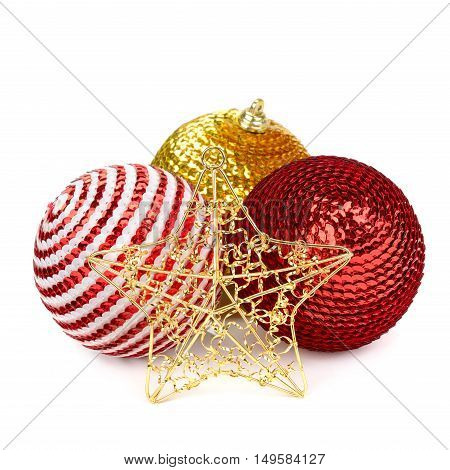 A  Christmas decoration isolated on white background