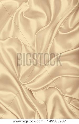 Smooth Elegant Golden Silk As Wedding Background. In Sepia Toned. Retro Style