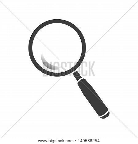 Magnifying glass icon. Magnifying glass Vector isolated on white background. Flat vector illustration in black. EPS 10