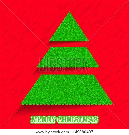 Green Xmas Tree for Merry Christmas celebration concept.