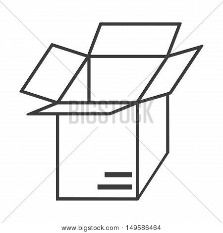 Open box icon. Open box Vector isolated on white background. Flat vector illustration in black. EPS 10