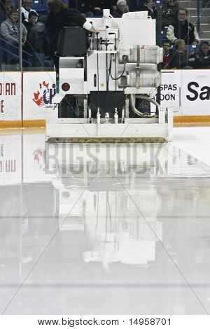 Zamboni With Fresh Ice