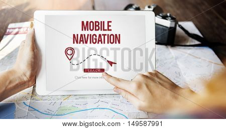 Navigation GPS City Locator Explore Concept