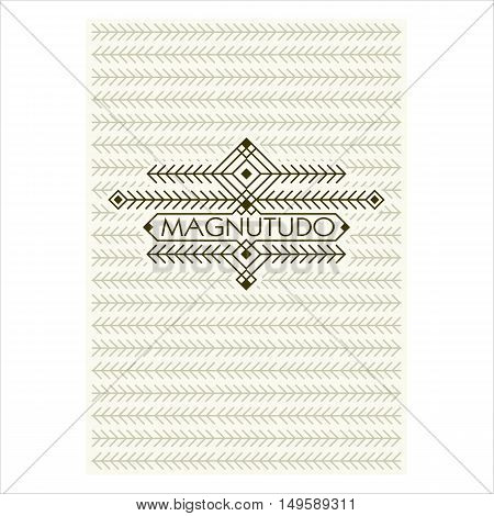 Vintage Luxury Antique Art Deco Flourishes frame. Ornamental Greeting Card Vector Template. Background cover. Title page. Hipster Style