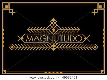Art deco classic luxury linear hipster geometric vintage vector frame , border , label for your logo badge or crest with monogram