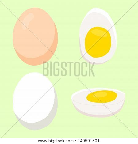 Abstract vector illustration of logo for eggs.