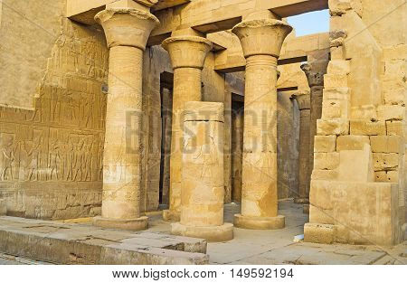 The ancient Kom Ombo Temple is popular archaeological site located in same named town in Upper Egypt.