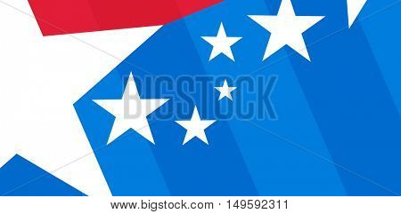 Digital composite of American flag with stripes and stars