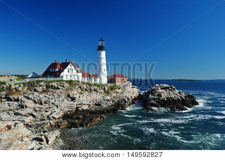 Portland Head Light in Cape Elizabeth, Maine.