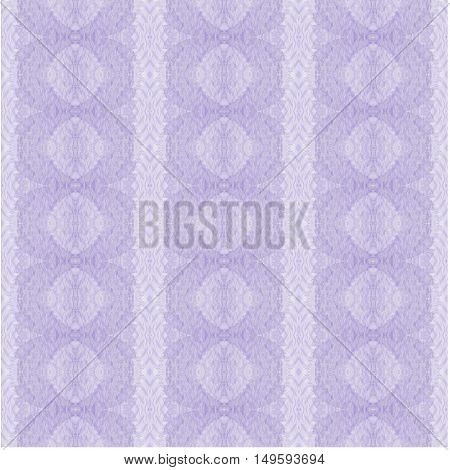 Abstract geometric seamless background single color. Regular oval retro pattern with stripes in pastel purple shades, ornate and delicate.