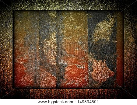 rusted iron template background