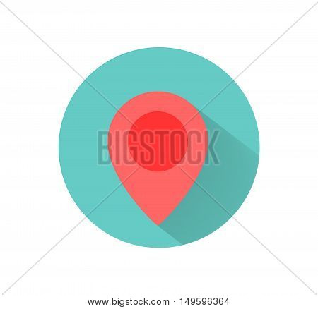 GPS Location Flat Icon, a vector GPS location flat icon illustration.