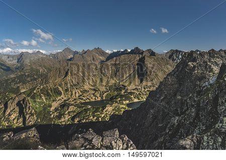 Panorama peaks of the High Tatras. Poland