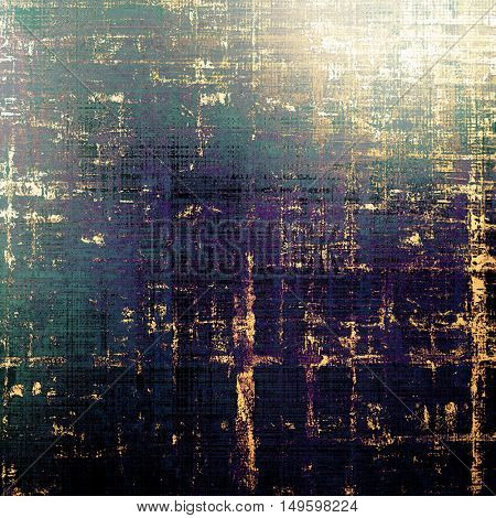Vintage texture, old style frame decoration with grunge graphic elements and different color patterns: yellow (beige); brown; green; blue; purple (violet); black