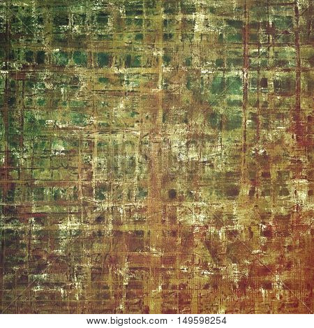 Shabby texture or background with classy vintage elements. Grunge backdrop with different color patterns: yellow (beige); brown; gray; green; red (orange)
