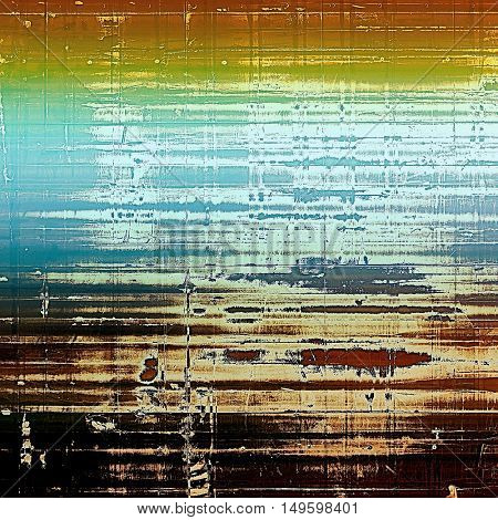 Abstract vintage colored background. With different color patterns: yellow (beige); brown; green; blue; red (orange); cyan