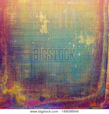 Retro grunge vintage background or weathered antique texture with different color patterns: yellow (beige); brown; green; blue; red (orange); purple (violet)