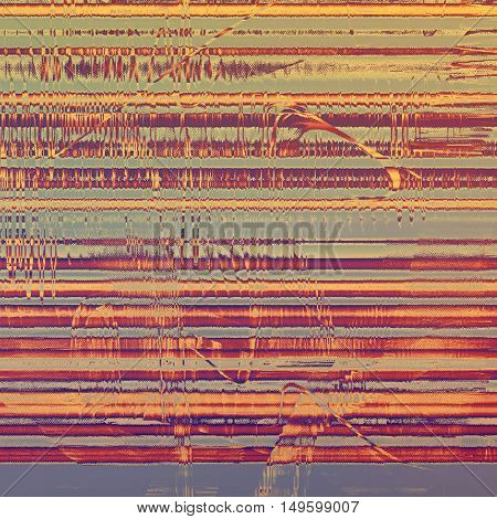 Oldest vintage background in grunge style. Ancient texture with different color patterns: yellow (beige); brown; gray; red (orange); purple (violet)