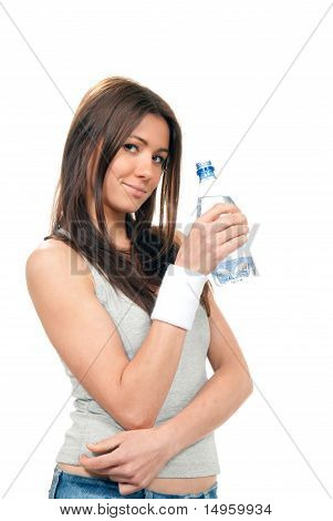 Girl Hold Bottle