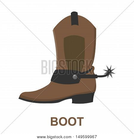 Cowboy boot icon cartoon. Singe western icon from the wild west collection.