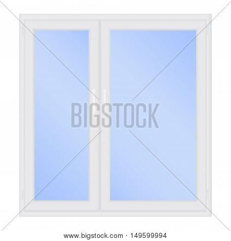 Window. Vector illustration isolated on white background