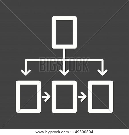 Chart, flowchart, structure icon vector image. Can also be used for software development. Suitable for mobile apps, web apps and print media.