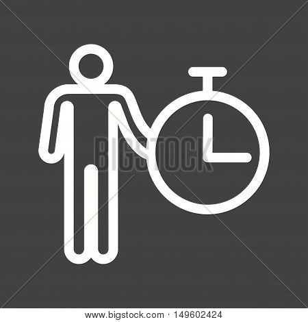 Time, management, idea icon vector image. Can also be used for software development. Suitable for mobile apps, web apps and print media.