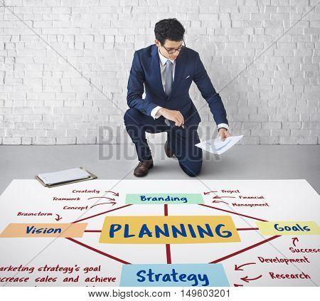 Planning Marketing Branding Strategy Concept