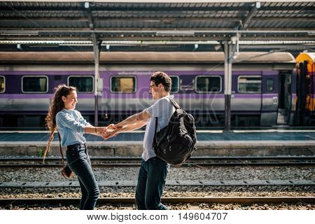 Couple Travel Destination Journey Togetherness Concept