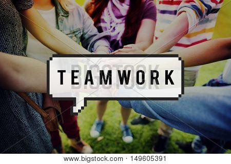 Team Building Teamwork Togetherness Unity Concept
