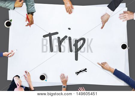 Trip Make It Happen Concept