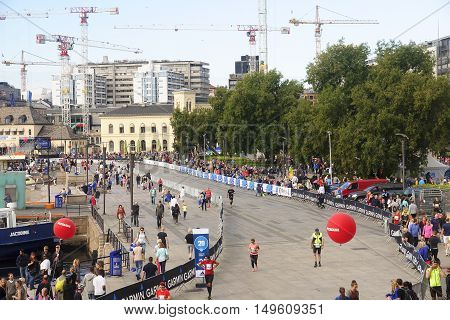 Oslo, Norway - September 17, 2016:  Oslo Maraton On 17 September