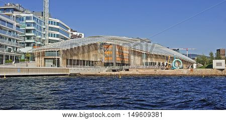Oslo, Norway - September 17, 2016: Astrup Fearnley Museum On 17