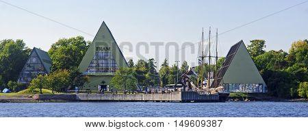 Oslo, Norway - September 17, 2016:  Museum Od Ship Fram On 17 Se