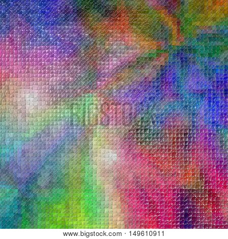 Abstract coloring background of the color harmonies gradient with visual lighting, mosaic and plastic wrap effects.