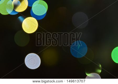 Bokeh abstract background. Theme festive night life presents an abstract bokeh background.