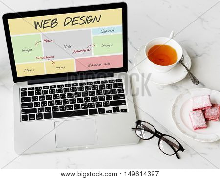 Web Design Website Content Concept