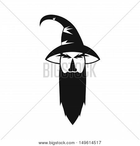 Wizard icon in simple style on a white background vector illustration